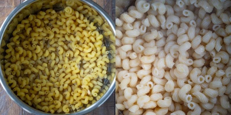 Dry noodles in an instant pot inner pot
