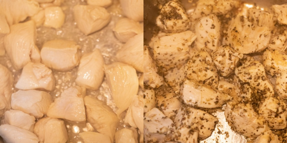 uncooked chicken breast in an instant pot inner pot