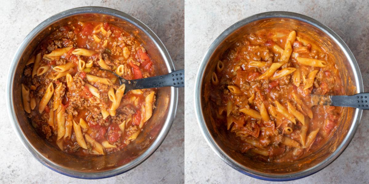 cavatini in an instant pot inner pot