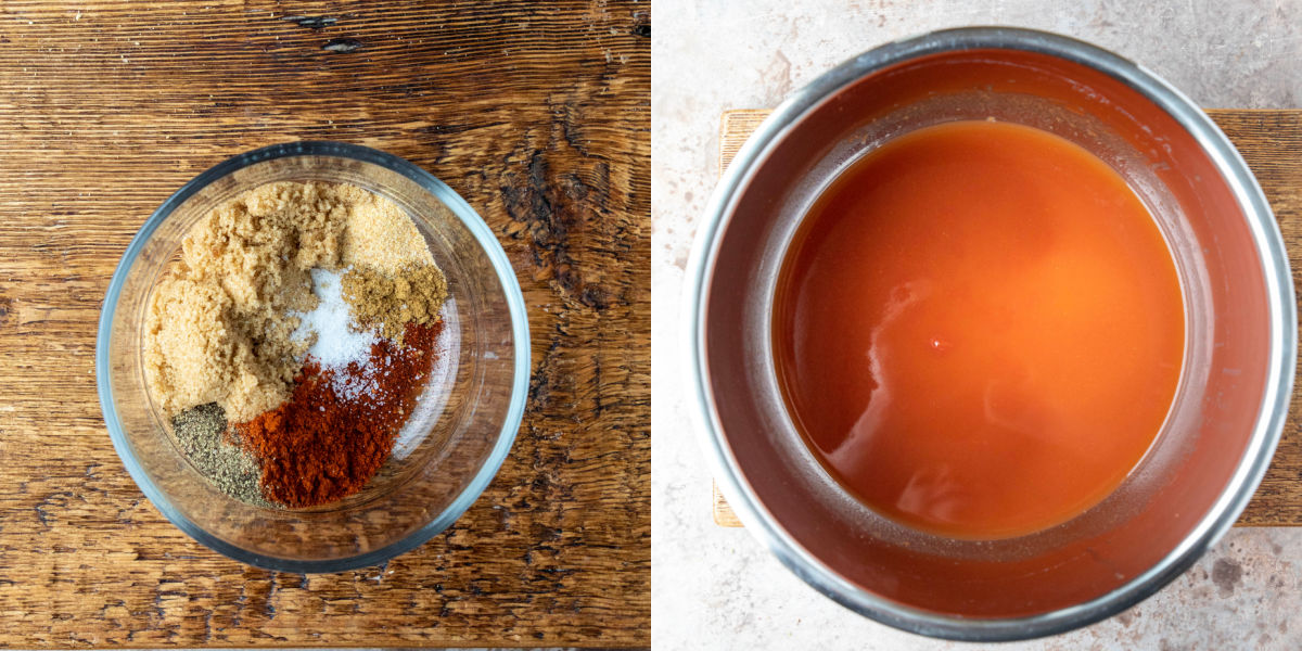 spice rub in a glass bowl
