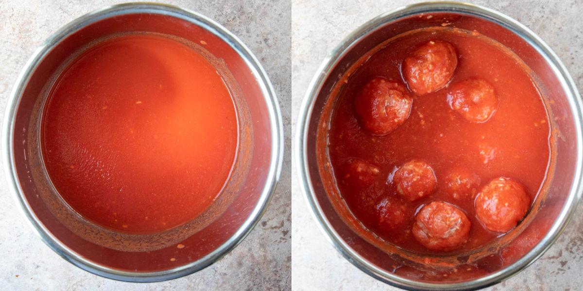 tomato sauce in an instant pot inner pot